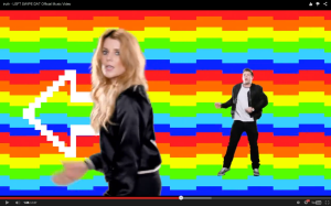 Here, Grace Helbig groovin.